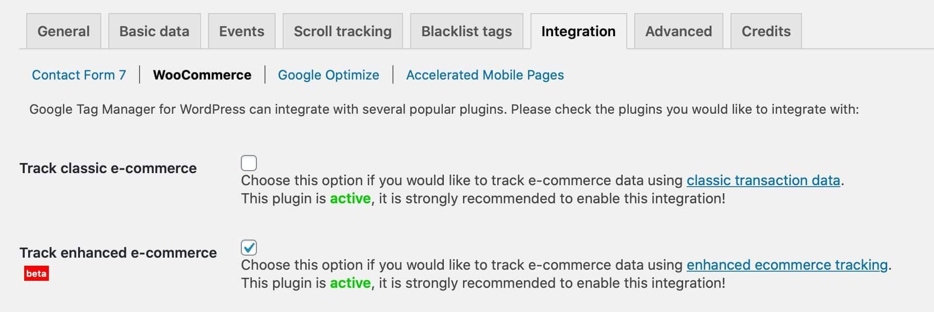 gtm plugin settings